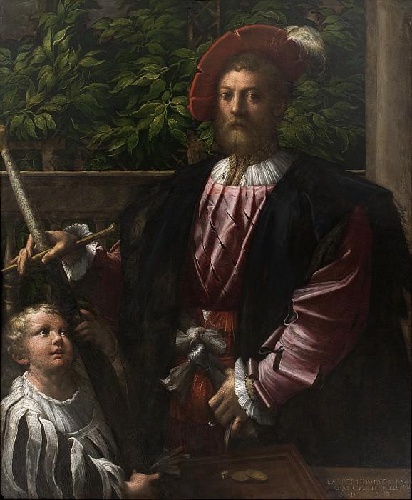 Пармиджанино (1503-40) - Портрет Лоренцо Чибо. Копенгаген (SMK) Датская национальная галерея