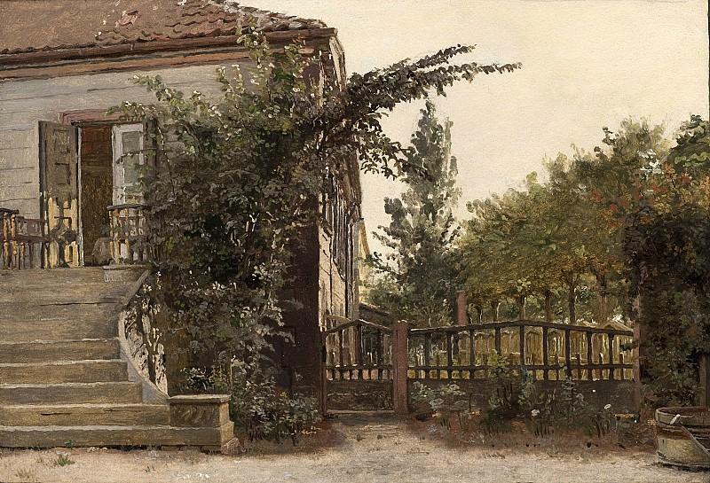 Кёбке, Кристен (1810-48) - Садовая лестница, ведущая в мастерскую художника в Блегдаммене. Копенгаген (SMK) Датская национальная галерея