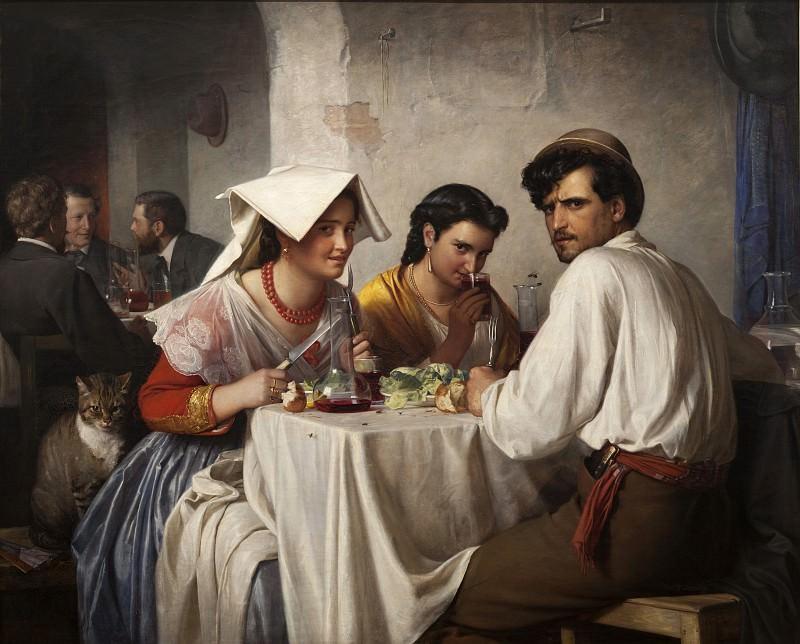 Carl Bloch (1834-90) - In a Roman Osteria. Kobenhavn (SMK) National Gallery of Denmark
