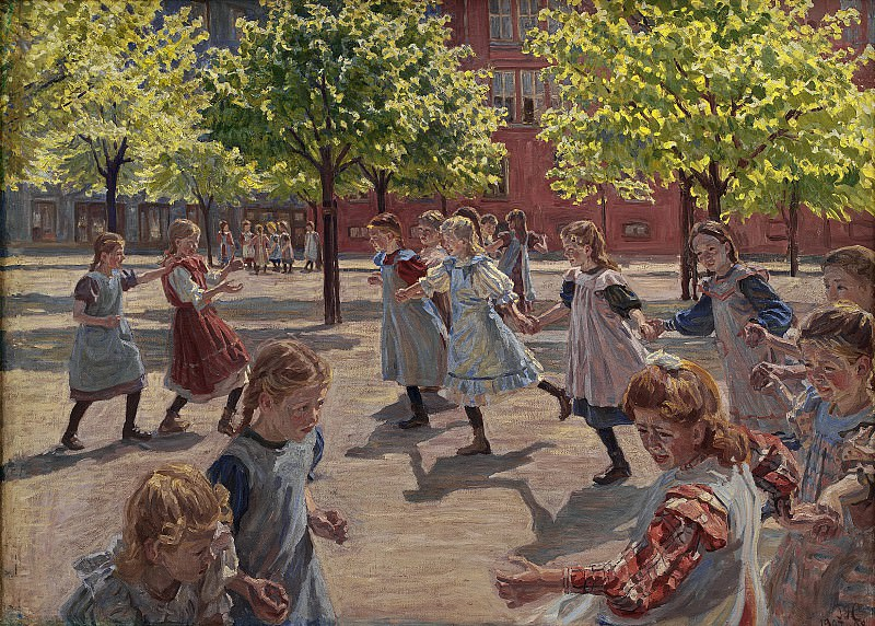 Peter Hansen (1868-1928) - Playing Children, Enghave Square. Kobenhavn (SMK) National Gallery of Denmark