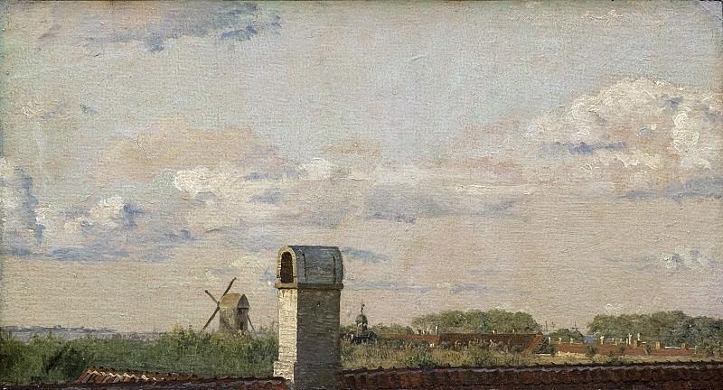 Кёбке, Кристен (1810-48) - Вид из окна в Толбодвее на крепость Копенгагена. Копенгаген (SMK) Датская национальная галерея