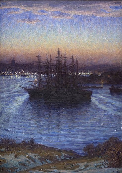 Prins Eugen (1865-1947) - Ships in Winter. Kobenhavn (SMK) National Gallery of Denmark