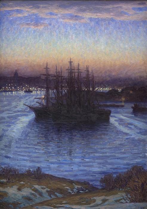 Принц Евгений Шведский (1865-1947) - Корабли в зиму. Копенгаген (SMK) Датская национальная галерея