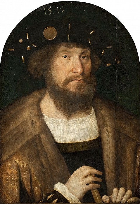 Michael Sittow (c. 1469-1525) - Portrait of Christian II. Kobenhavn (SMK) National Gallery of Denmark