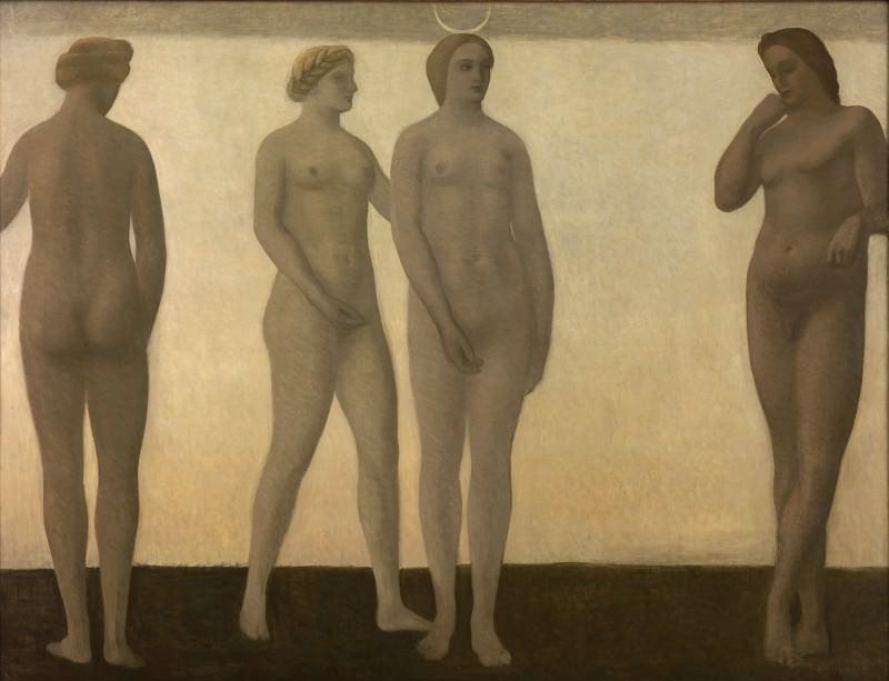 Vilhelm Hammershøi (1864-1916) - Artemis. Kobenhavn (SMK) National Gallery of Denmark