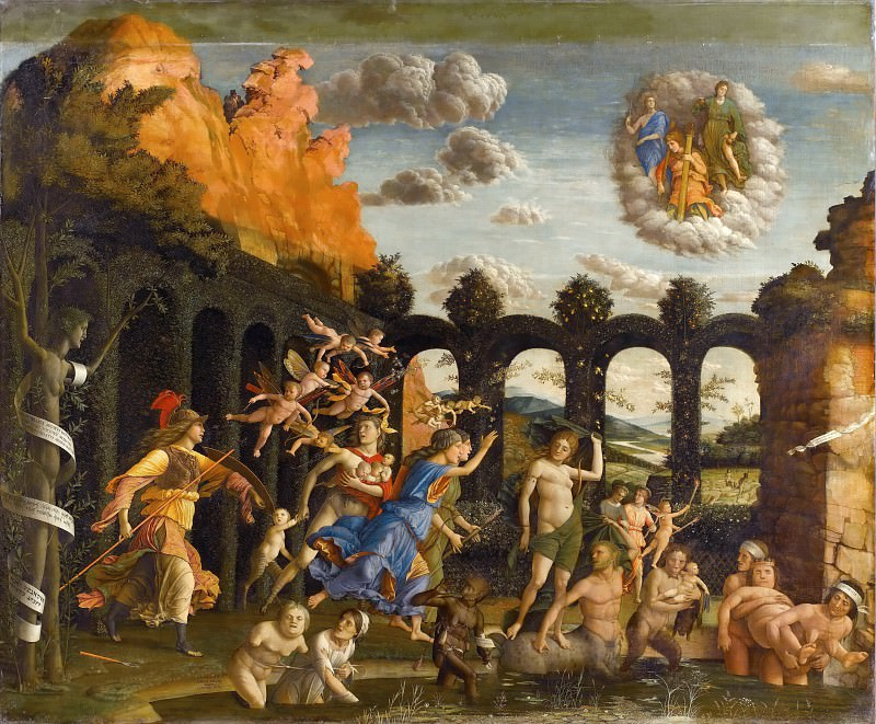 Andrea Mantegna -- Minerva hunting the Vices in the gardens of Virture. Part 1 Louvre