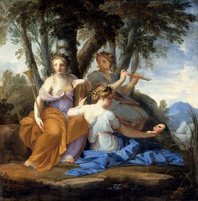 Eustache Le Sueur -- Clio, Euterpe and Thalia. Part 1 Louvre