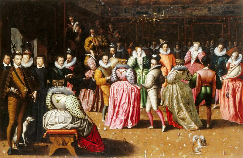 French School -- Ball at the Court of Henry III (Duke of Alençon's Ball). Part 1 Louvre
