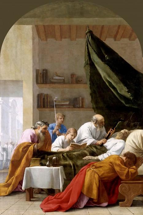 Eustache Le Sueur -- Life of St. Bruno: Death of Raymond Diocrès. Part 1 Louvre