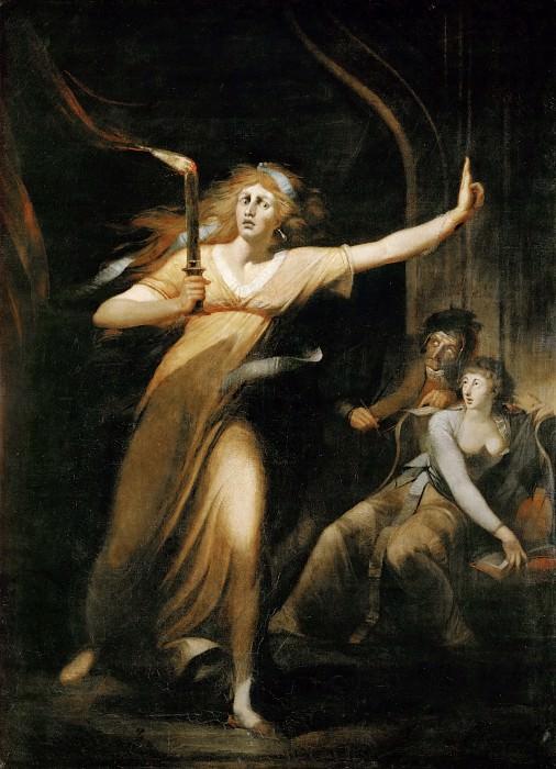 Henry Fuseli -- Lady Macbeth Walking in her Sleep. Part 1 Louvre