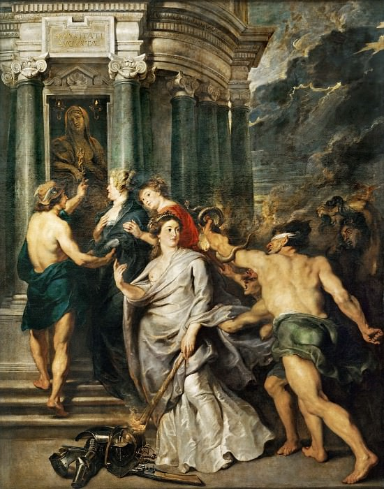 Peter Paul Rubens -- Medici Cycle: Conclusion of Peace at Angers, August 10, 1620. Part 1 Louvre