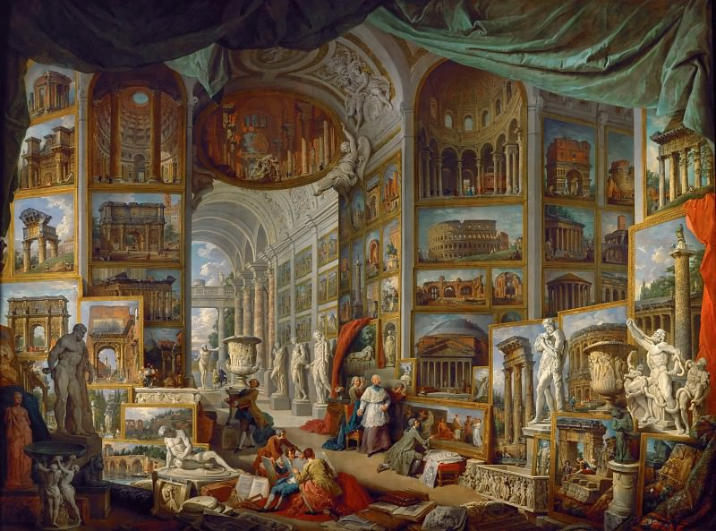 Giovanni Paolo Panini -- Gallery of the views of ancient Rome.. Part 1 Louvre