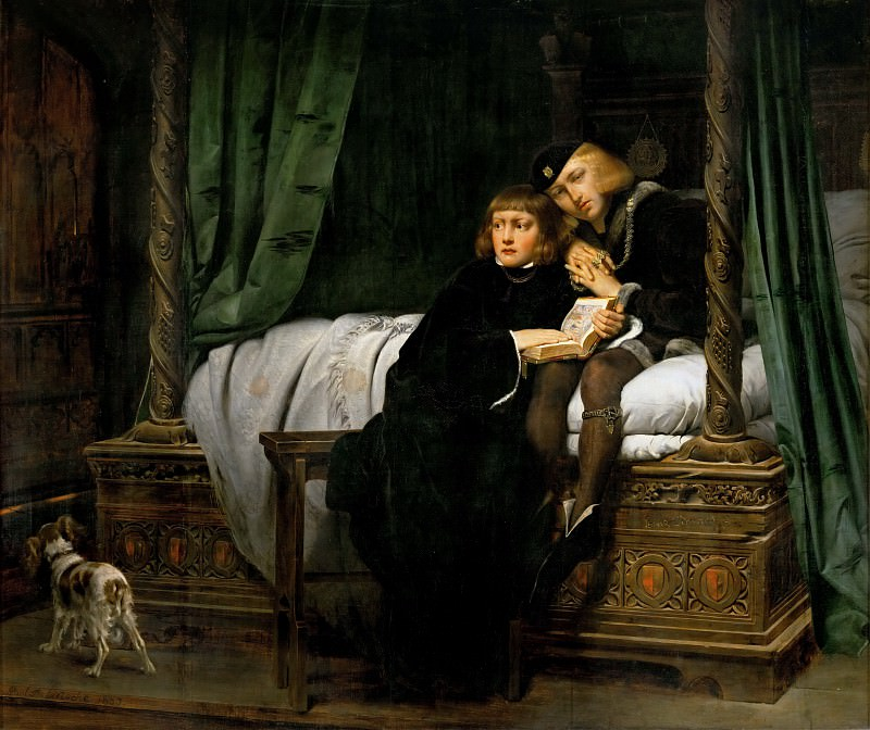 Paul Delaroche -- The Children of Edward IV in the Tower. Part 1 Louvre