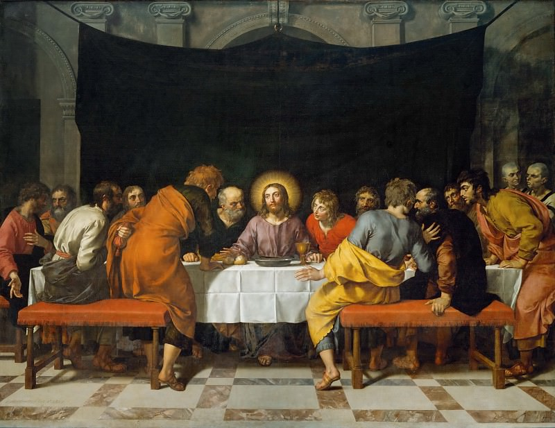 Frans Pourbus the Younger (1569-1622) -- The Last Supper. Part 1 Louvre