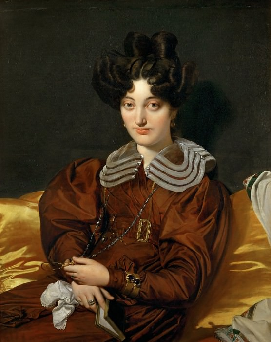 Ingres, Jean Auguste Dominique -- Mme. Marcotte de Sainte-Marie (1803-1862) Painted 1826, Salon 1827. Canvas, 93 x 74 cm R.F. 2398. Part 1 Louvre