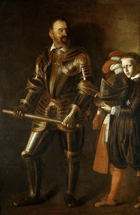 Michelangelo Merisi da Caravaggio -- Portrait of Alof de Wignacourt, with a Page. Part 1 Louvre
