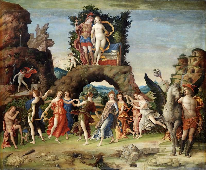 Мантенья, Андреа (1431 Изола ди Картура - 1506 Мантуя) -- Парнас. Part 1 Louvre