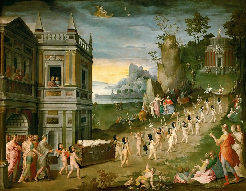 Antoine Caron (1521-1599) -- Allegory: The Funeral of Amor. Part 1 Louvre