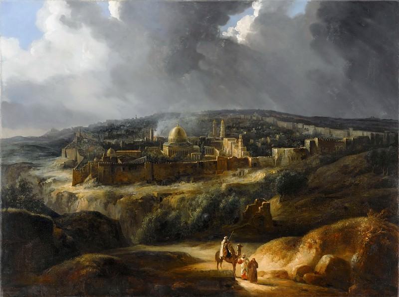 Auguste Forbin -- Jerusalem Seen from Mount Josaphat. Part 1 Louvre