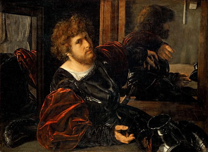 Giovanni Girolamo Savoldo (c. 1480-after 1548) -- Self-Portrait, formerly called Portrait of Gaston de Foix. Part 1 Louvre