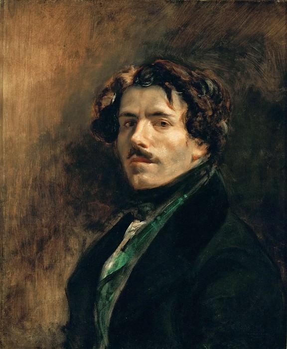 Delacroix, Eugene -- Delacroix, self-portrait. 65 x 54.5 cm RF 25. Part 1 Louvre