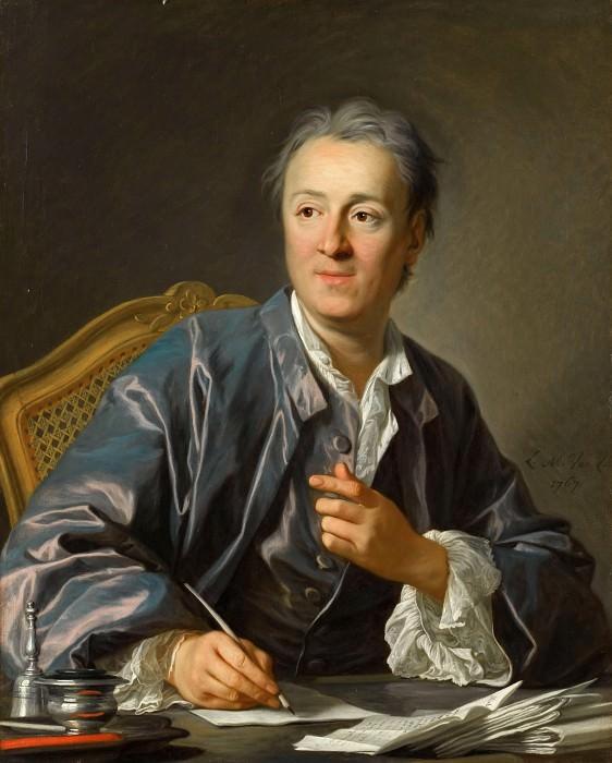 Louis Michel van Loo -- Denis Diderot. Part 1 Louvre