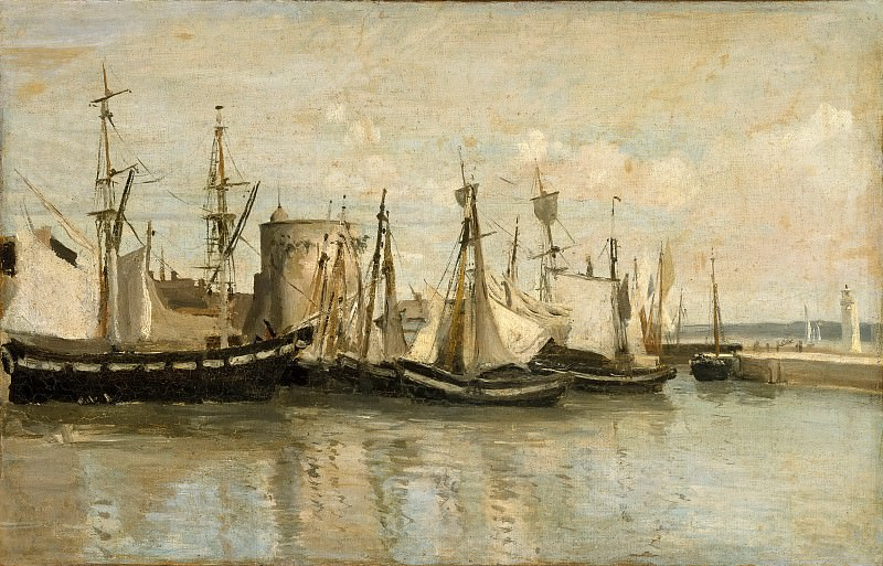 Jean-Baptiste-Camille Corot -- Entry to the port of La Rochelle. Part 1 Louvre