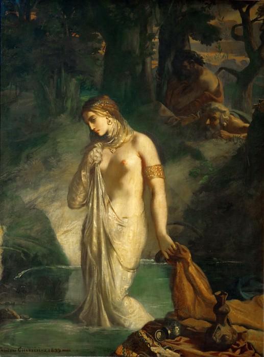 Шассерио, Теодор (1819 Сент-Барб-де-Самана - 1856 Париж) -- Сусанна в купальне. часть 1 Лувр
