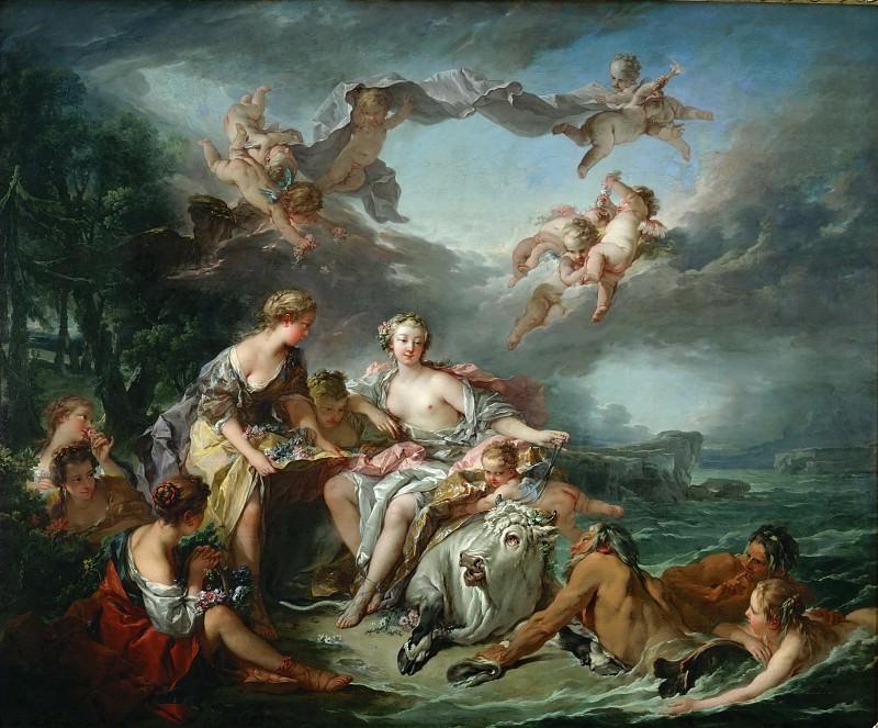 Буше, Франсуа -- Похищение Европы, 1747, 161х194. Part 1 Louvre