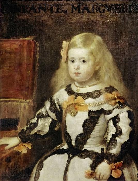 Веласкес, Диего (1599 Севилья - 1660 Мадрид) -- Портрет инфанты Маргариты. Part 1 Louvre