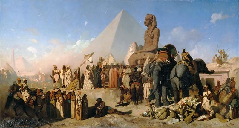 Adrien Guignet -- Cambyses and Psammenitus. Part 1 Louvre