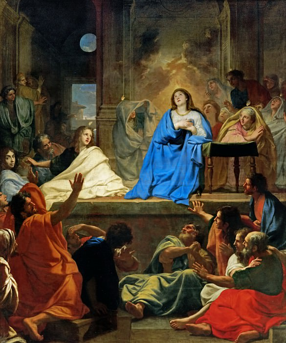 Charles Le Brun -- Descent of the Holy Ghost. Part 1 Louvre