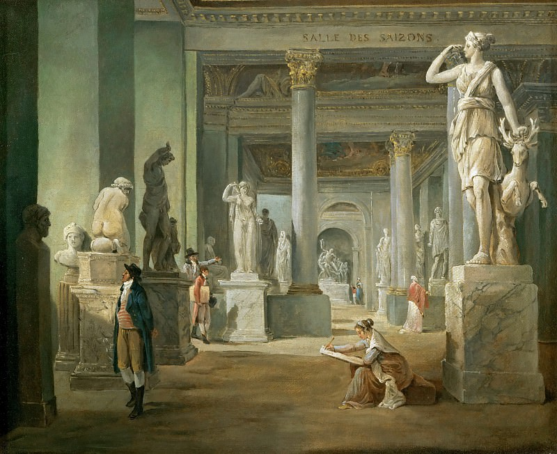Robert, Hubert -- La salle des Saisons au Louvre, 1802-03. Canvas, 37 x 46 cm RF 1964/35. Part 1 Louvre