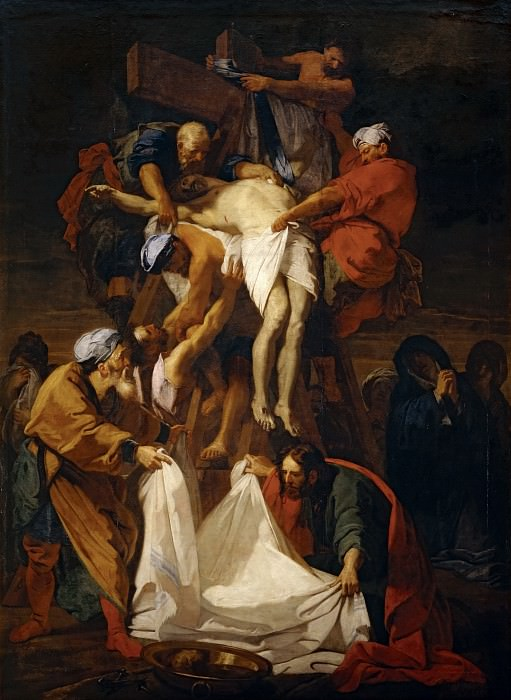 Jean-Baptiste Jouvenet (1644-1717) -- Descent from the Cross. Part 1 Louvre