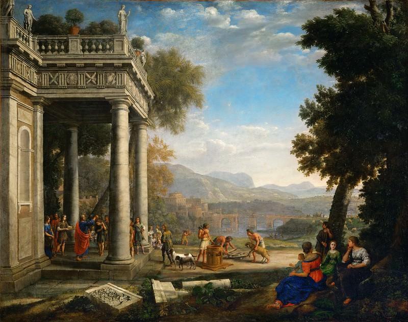Claude Lorrain -- David crowned by Samuel. Part 1 Louvre