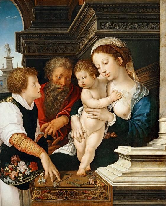 Орлей, Бернарт ван (Брюссель ок1488-1541) -- Святое Семейство. часть 1 Лувр