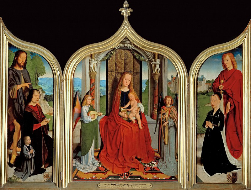 Gerard David -- Triptych of the Sedano Family. Part 1 Louvre