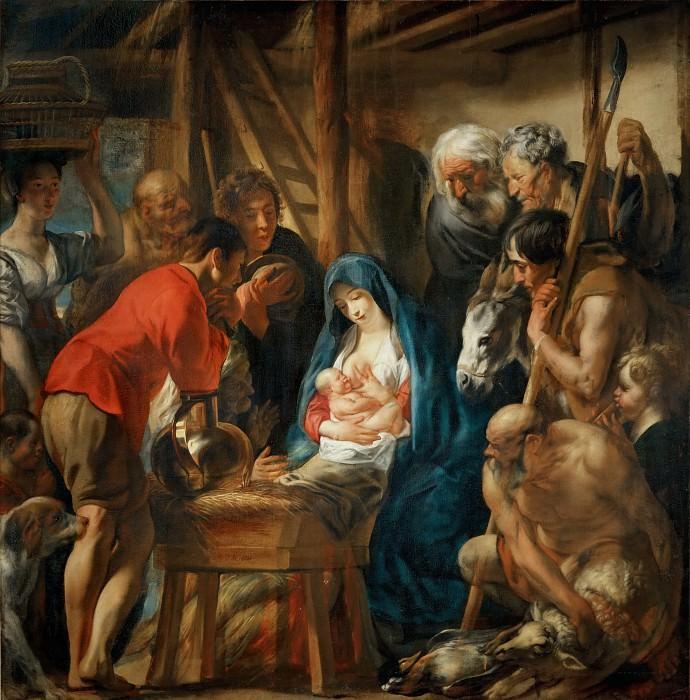 Йорданс, Якоб (Антверпен 1593-1678) -- Поклонение пастухов. Part 1 Louvre