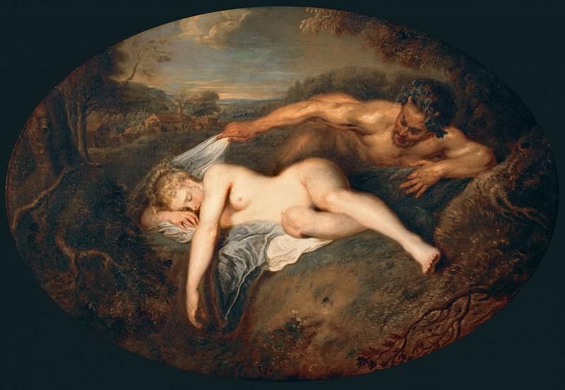 Ватто, Жан-Антуан (1684 Валансьен - 1721 Ножан-сюр-Марн) -- Юпитер и Антиопа. часть 1 Лувр