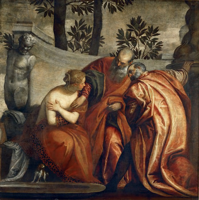 Paolo Veronese and Workshop -- Susana and the Elders. Part 1 Louvre