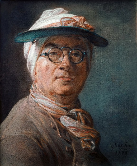 Self-Portrait with an Eyeshade. Jean Baptiste Siméon Chardin