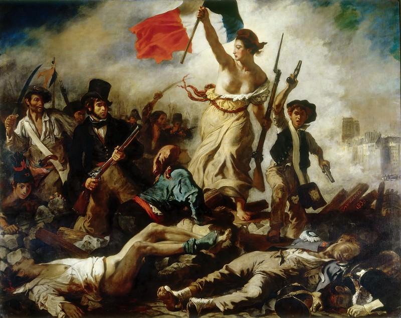 Делакруа, Эжен (1798 Шарантон-Сен-Морис - 1863 Париж) -- Свобода, ведущая народ на баррикады. часть 1 Лувр