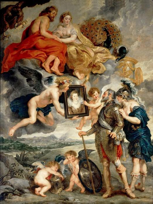Presentation for Henry IV. Peter Paul Rubens
