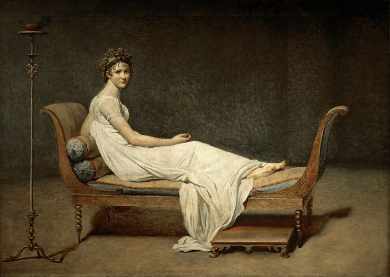 David, Jacques Louis<br /> -- Mme Recamier nee Julie Bernard (1777-1849).. Part 1 Louvre