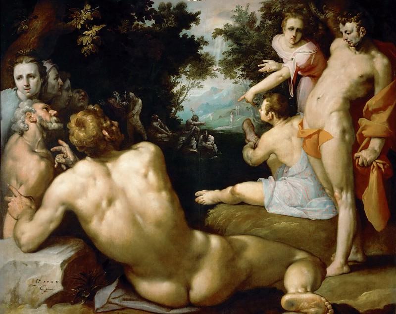 Cornelis Cornelisz. Van Haarlem -- Baptism of Christ. Part 1 Louvre