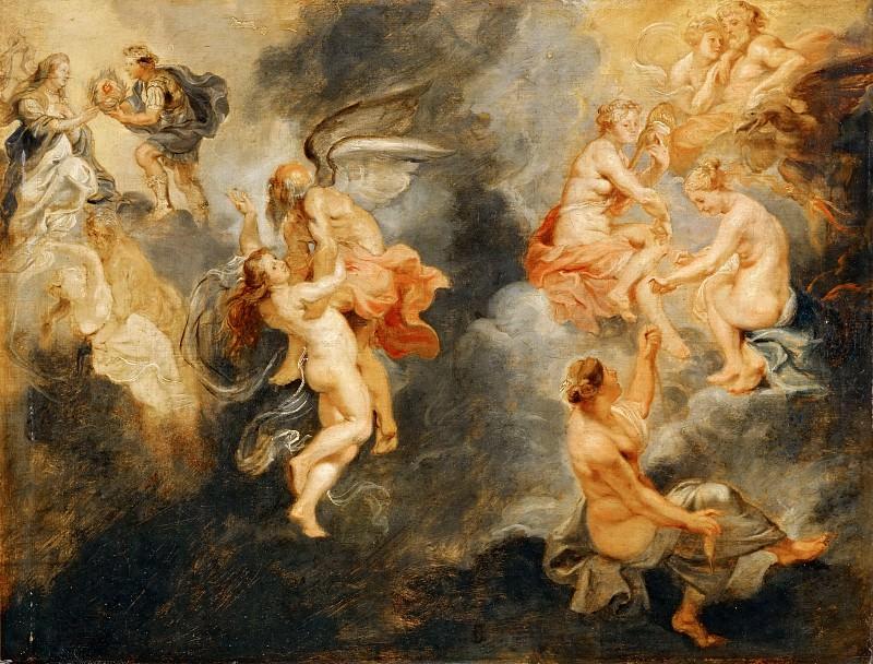 Les trois parques filant la destinee de Marie Medicis. Triomphe de la verite. Peter Paul Rubens