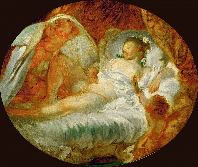 FRAGONARD, Jean-Honor? -- (b. 1732, Grasse, d. 1806, Paris). Part 1 Louvre
