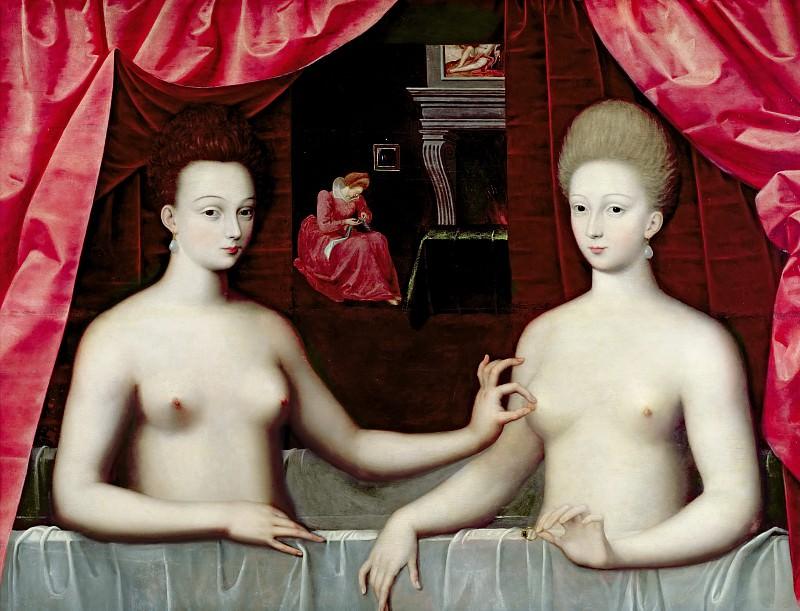 Школа Фонтенбло -- Габриэль д'Эстре с сестрой. часть 1 Лувр