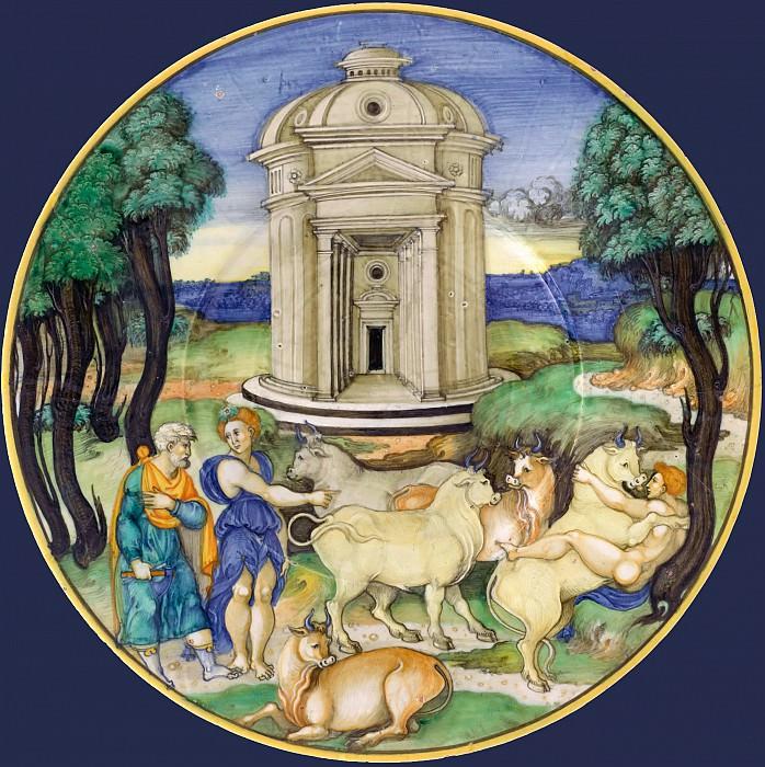 Attributed to Nicola da Urbino -- Plate Pasiphae. Part 1 Louvre
