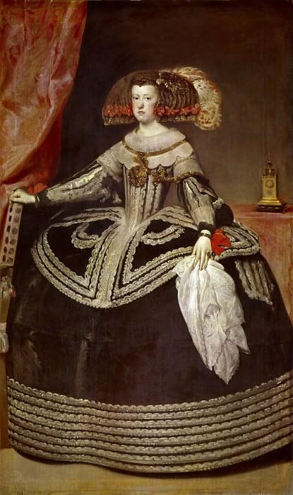 Веласкес, Диего (1599 Севилья - 1660 Мадрид) -- Портрет королевы Марианны Австрийской. Part 1 Louvre
